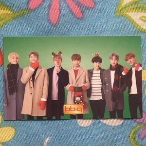 BTS 100% AUTHENTIC BBQ group Christmas photocard